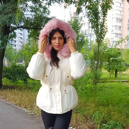 Куртка короткая белая (размер M) 215-05-2, фото 2