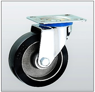 Колесо поворотное алюминий/резина серия 17 STANDART 1702-ST-124-B