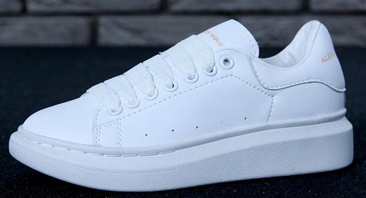 Кроссовки женские Alexander McQueen Oversized Sneakers, адидас александр маккуин белые, реплика