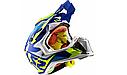Шлем кроссовый Ls2 MX470 Subverter Nimble White (Blue Yellow), фото 3