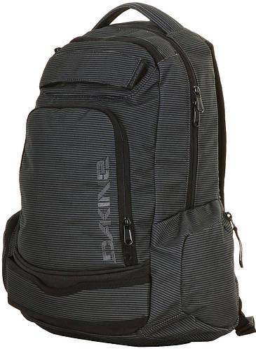 Мужской городской рюкзак в полоску Dakine Varial Pack 26L Black Stripe 610934724806 серый