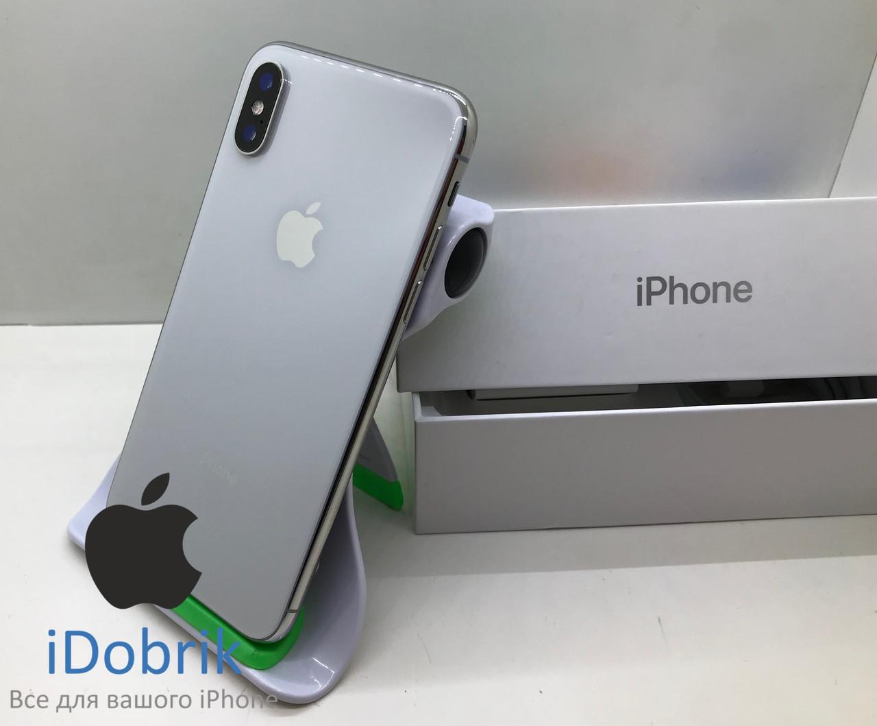 Б/У iPhone X 64gb Silver Neverlock 10/10