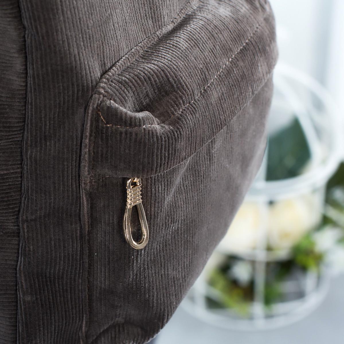 Городской женский вельветовый рюкзак Mayers, серый, фото 3