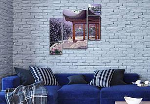 Модульная картина Азиатская арка  на Холсте, 120x130 см, (60x30-2/25х30-2/95x65), фото 3