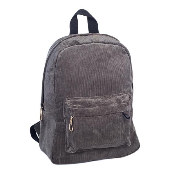 Городской женский вельветовый рюкзак Mayers, серый, фото 4