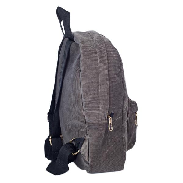 Городской женский вельветовый рюкзак Mayers, серый, фото 5