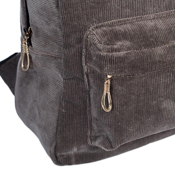 Городской женский вельветовый рюкзак Mayers, серый, фото 7