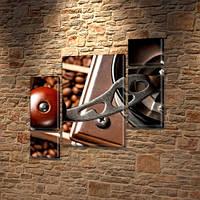 Модульная  картина Кофемолка ручная   на Холсте, 120x130 см, (60x30-2/25х30-2/95x65)