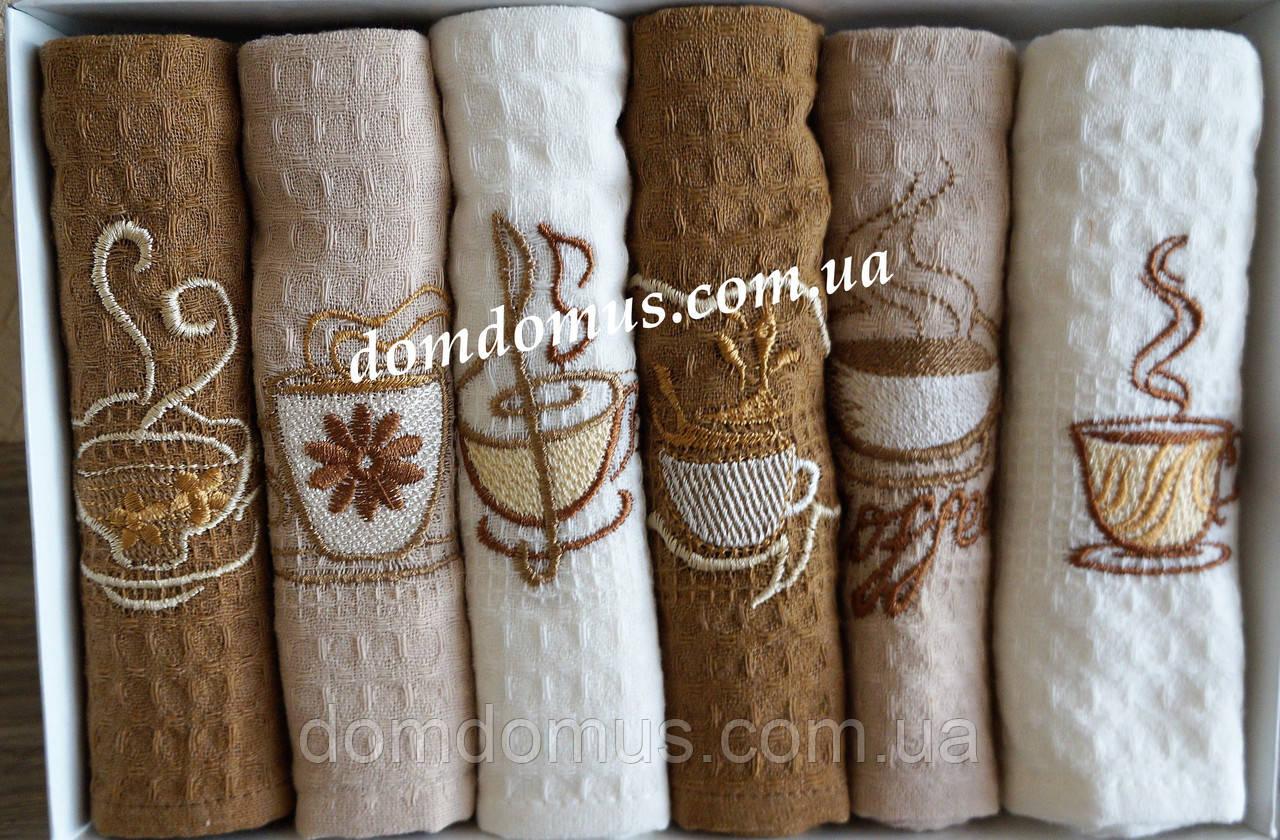 Набор вафельных кухонных полотенец 40*60 см, Calista 6 шт., Турция