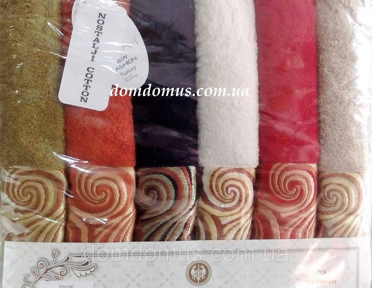 Махровое полотенце 70*140 Philippus 6 шт./уп.,Турция 016