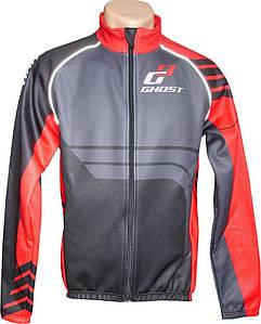 Велокуртка зимова GHOST Winter Jacket XXL чорно/червона black/red 2014 (14405)