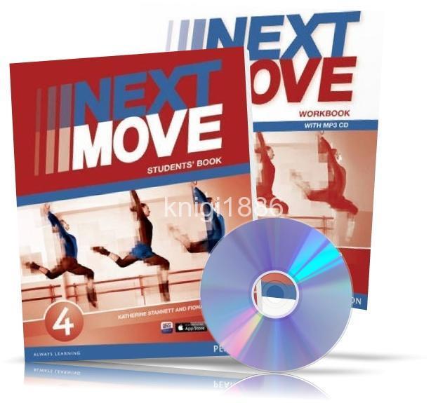 Next move 4 student's book + dvd-rom учебник+видео диск, цена 1.