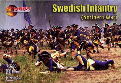SWEDISH INFANTRY (NORTHERN WAR). 1/72 MARS 72020
