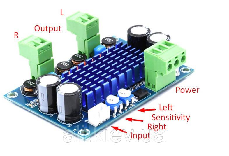 NEW! Підсилювач D клас TPA3116D2 2*120 Вт стерео модуль