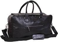 Кожаная дорожная сумка 27 л. VIP COLLECTION, арт.1605A flat черный