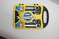 Набор гаечных ключей комбинированных с трещеткой 7 предметов модель 2-12