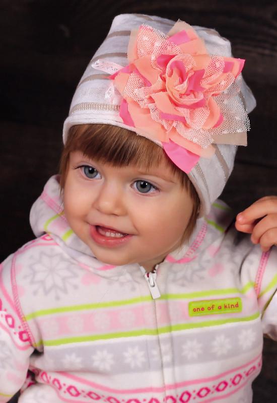 Детская шапка для девочек ПИКОЛА оптом размер 40-42-44