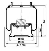 Пневморессора с метал. пистоном (2 шпильки-воздух)
