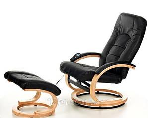 Массажное кресло + пуф Сalviano 2 с подогревом черное