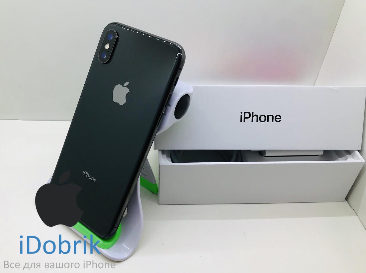 Телефон Apple iPhone X 64gb Space Gray  Neverlock  9/10