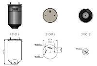 Пневмоподушка без пистона REXROD (SAF 2618 2шпильки-воздух)