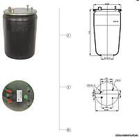 Пневморессора без стакана REXROD (DAF 3 шпильки-2 воздуха)
