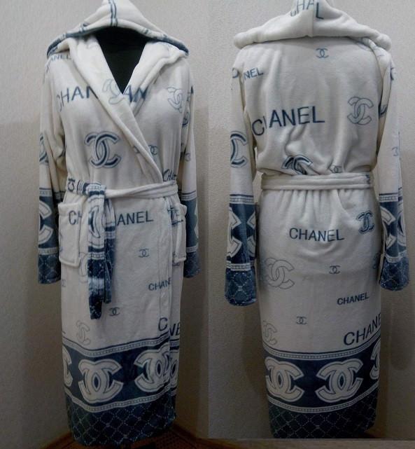 Махровый халат длинный Шанель 44-52