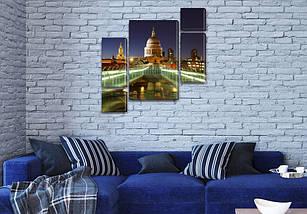 Модульная картина Белый дом на Холсте, 120x130 см, (60x30-2/25х30-2/95x65), фото 3