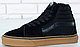 Зимние кеды Vans Old Skool Sk8-Hi Canvas Black с мехом, Ванс Олд Скул зима, фото 2