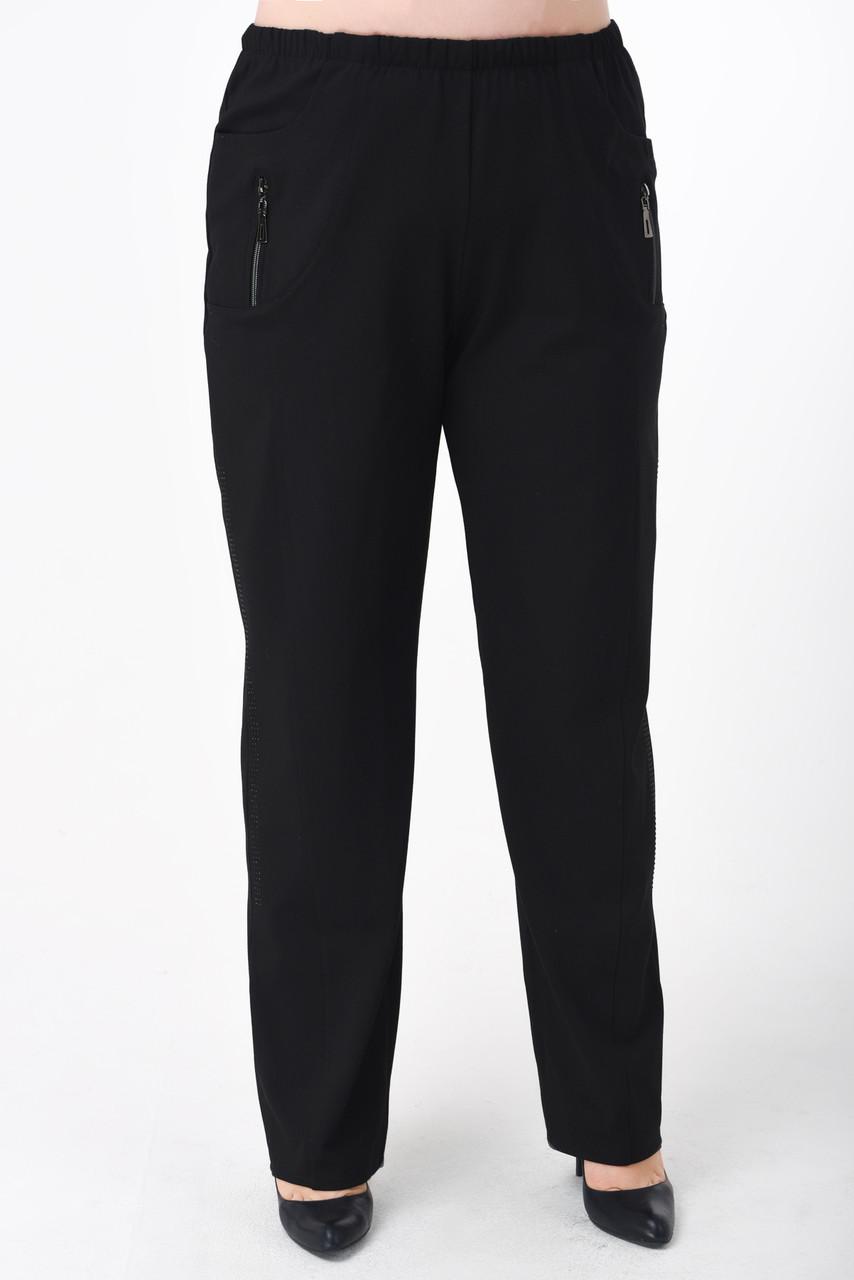 1a9657f043f Купить Женские брюки больших размеров (батал) черные в Вышгороде от ...