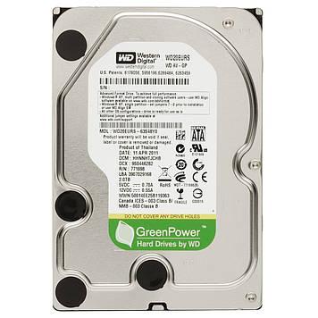 Винчестер 2TB Western Digital, WD20EURS, 7200 об/мин, 64 MB, SATA II, AV-GP