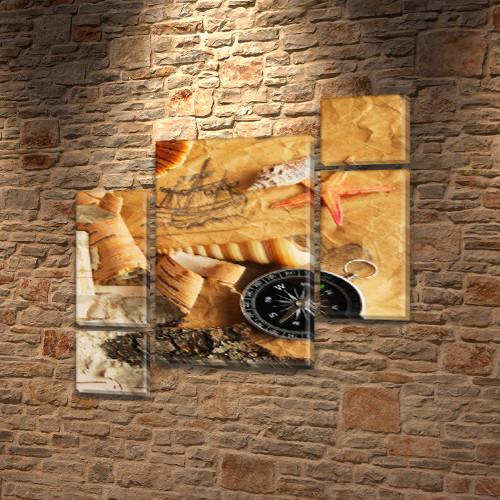 Картины модульные на Холсте, 120x130 см, (60x30-2/25х30-2/95x65)