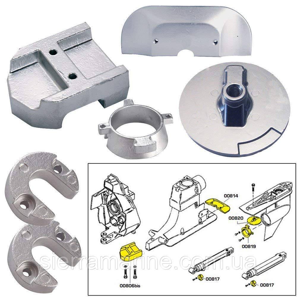 Комплект цинкових анодів для двигунів Mercury Alpha 1 Gen 2 - Zinc