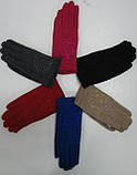 Перчатки детские КОРОЛЕВА 77 с начесом и стразами   (10шт), фото 2