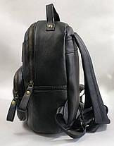 Молодежный модный рюкзак подросток девочка черный dulux, фото 2