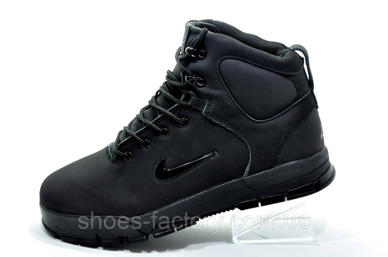 Зимние кроссовки на меху в стиле Nike Air Nevist 6, Black