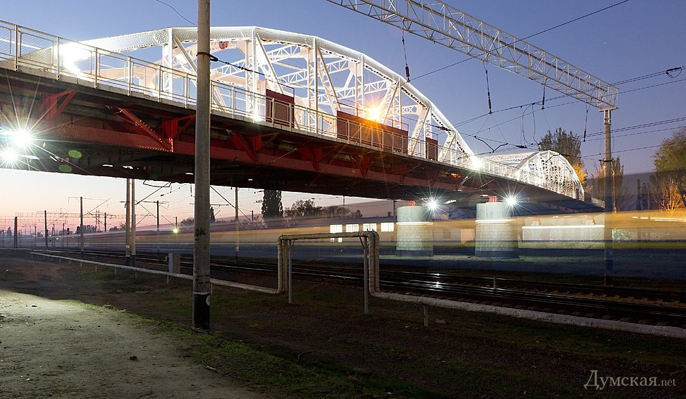 Подсветка горбатого моста г.Одесса