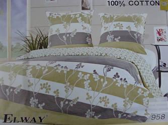 Сатиновое постельное белье семейное ELWAY 958