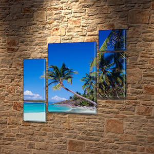 Модульные картины в спальню на Холсте, 120x130 см, (60x30-2/25х30-2/95x65)