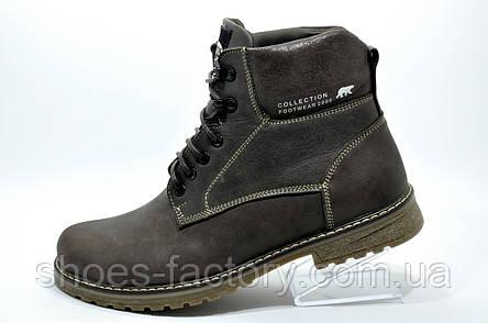 Зимние ботинки из кожи Ботус, мужские (Brown), фото 2