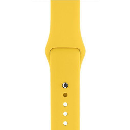 Ремешок для Apple Watch Silicone 38/42mm Sport Band Yellow(реплика)