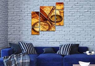 Модульные картины в спальню на Холсте, 120x130 см, (60x30-2/25х30-2/95x65), фото 3