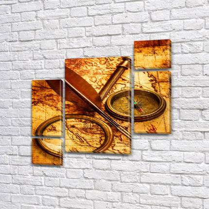 Модульные картины в спальню на Холсте, 120x130 см, (60x30-2/25х30-2/95x65), фото 2