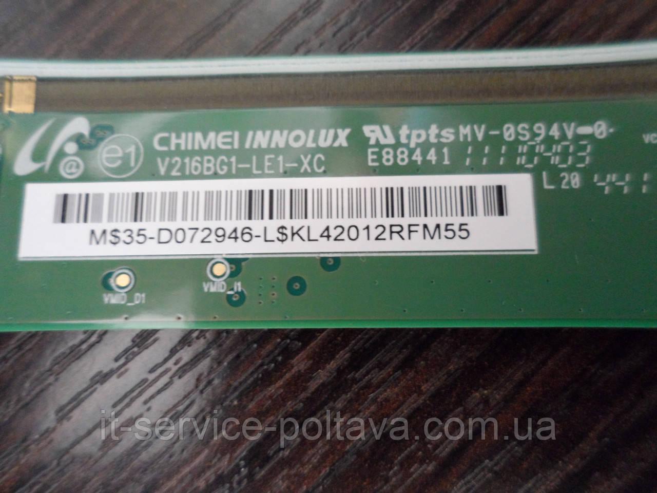 Тайминг-Контроллер (T-CON) V216BG1-LE1-XC THOMSON 22HS4246C