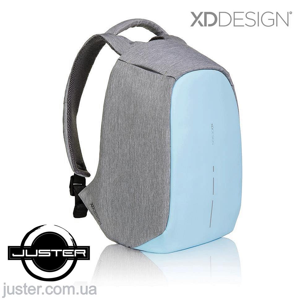 Рюкзак Bobby Compact Оригинал для ноутбука 14 XD Design антивор с кодом от подделок голубой
