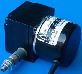 Тросовый потенциометрический датчик серии AWE 110, малогабаритный, трос из нержавеющей стали