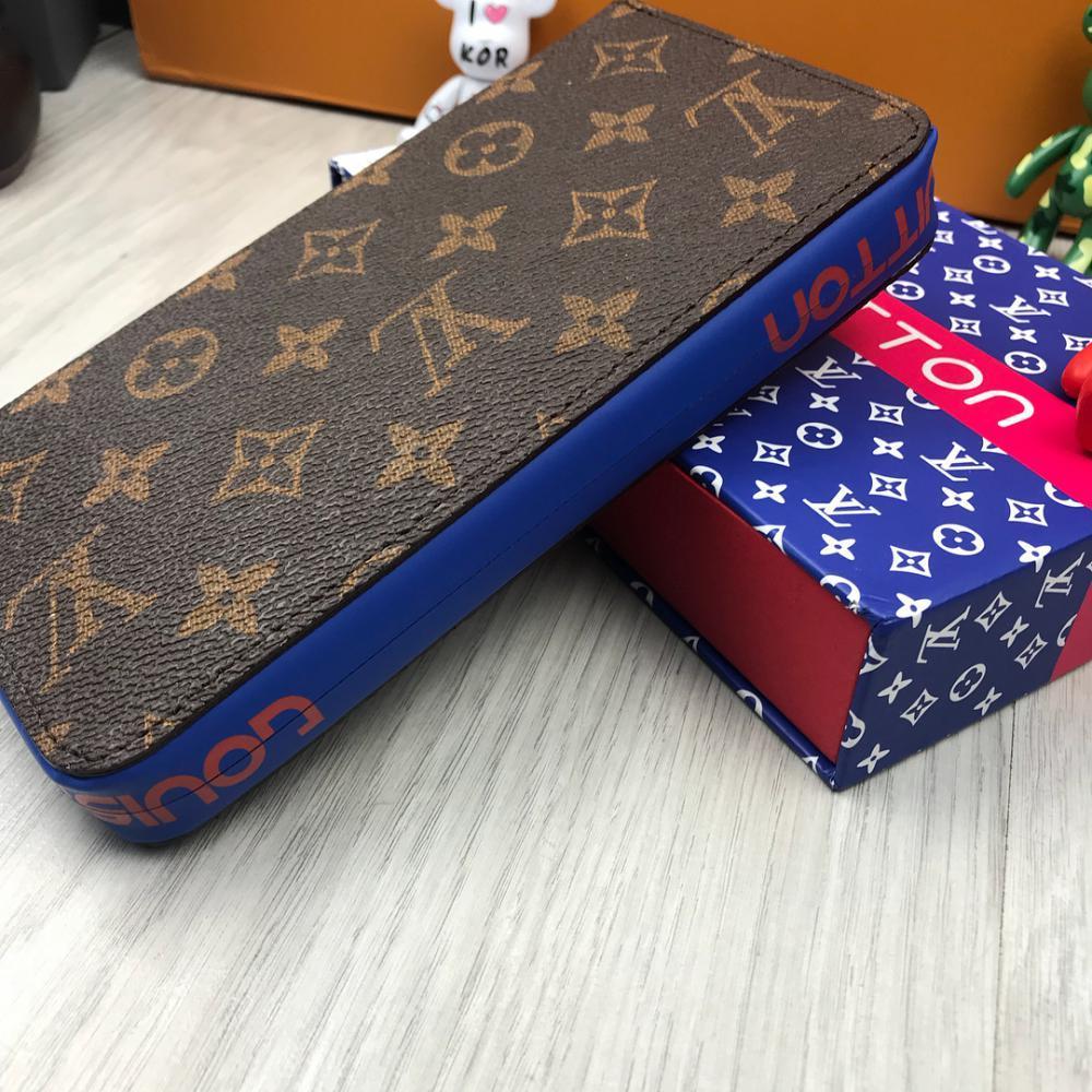 47697ec85454 Кошелек клатч портмоне бумажник коричневый мужской женский Louis Vuitton  премиум реплика