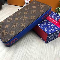 e9699258718e Кошелек клатч портмоне бумажник коричневый мужской женский Louis Vuitton  премиум реплика