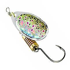 Блешня-вертушка DAM Effzett Natural With Single Hook 4г (brown trout)