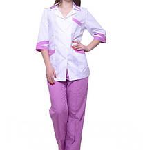 Женский медицинский костюм с цветными брюками 42-44